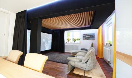 Audiophiler Klang im Fachwerk-Wohnzimmer