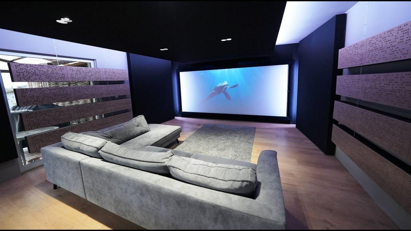 "Setup Wohnzimmer m Großbild Leinwand, Aktiv LS und Akustik - ""on the road"" Heimkino Doku Serie S4E9"