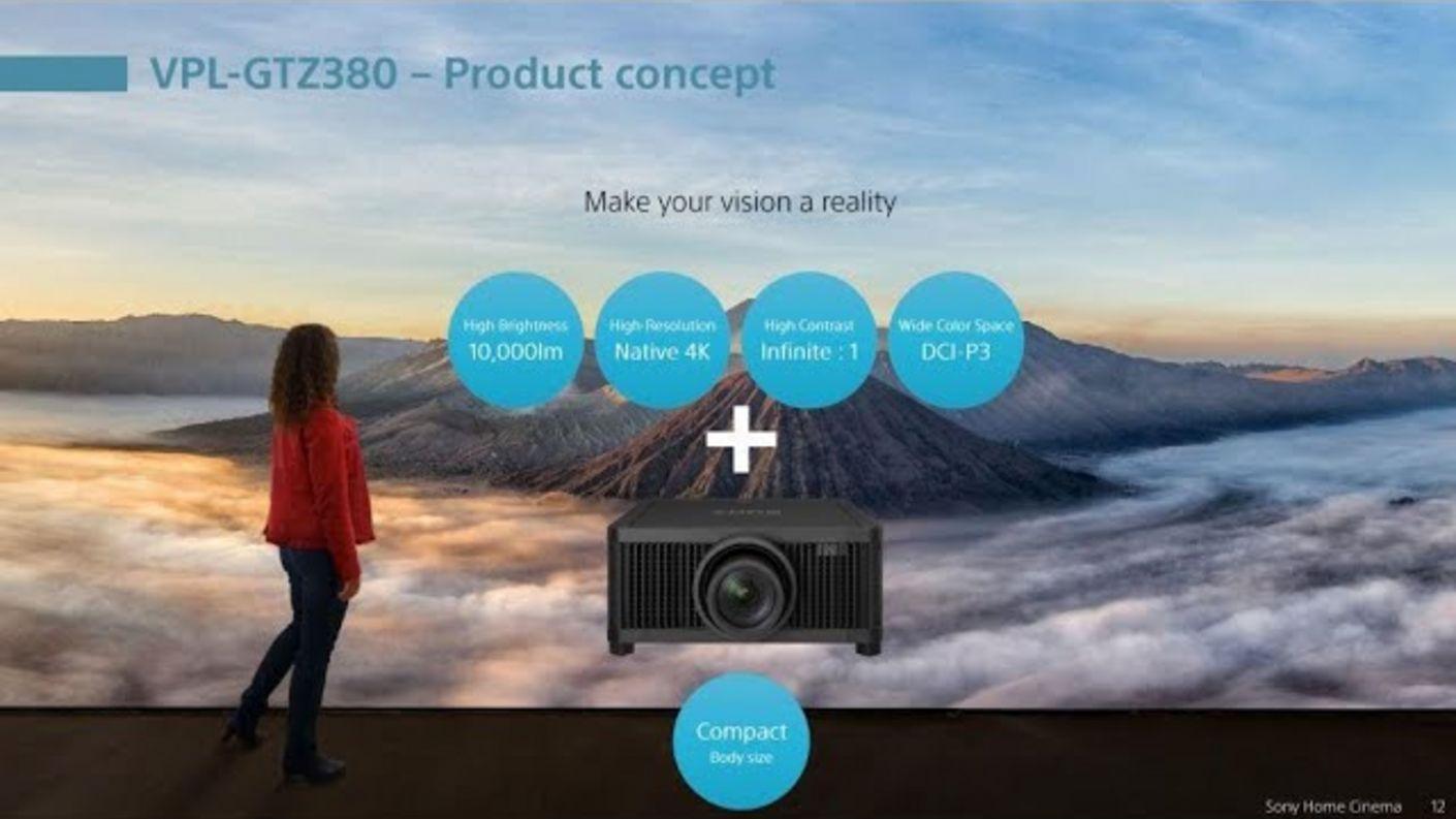 News: Sony GTZ 380 Raptor 4K HDR Heimkino Beamer Vorstellung bei Sony Launch Event September 2020