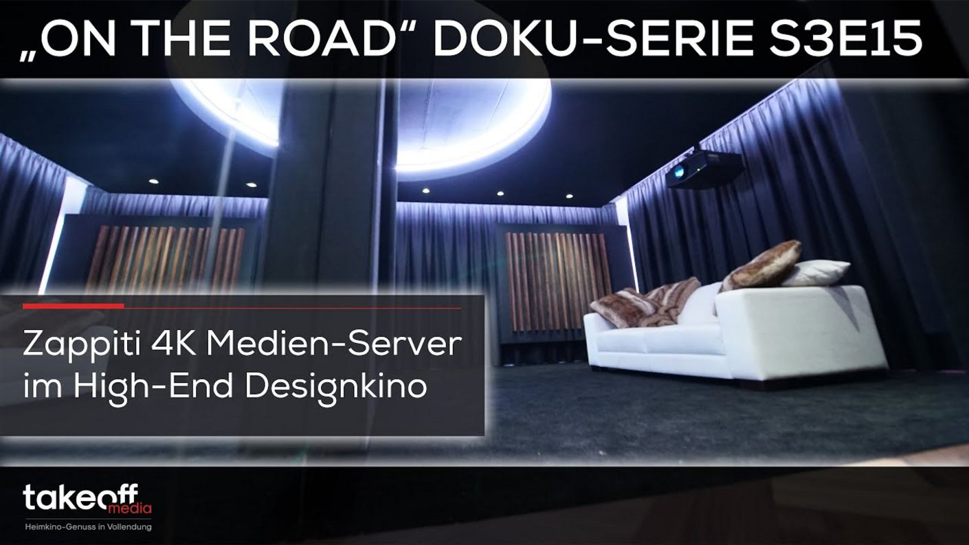 "Staffelfinale im Design Traumkino mit 4K Medienserver - Heimkino Doku-Serie ""on the road"" S3E15"