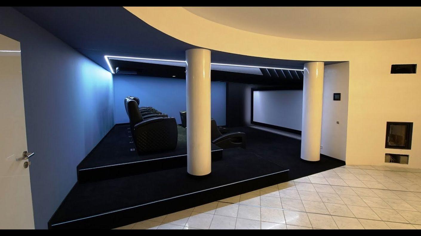 Heimkino-Design - Bauhaus Design meets Heimkino - elegant integriert Akustik- und Detaillösungen