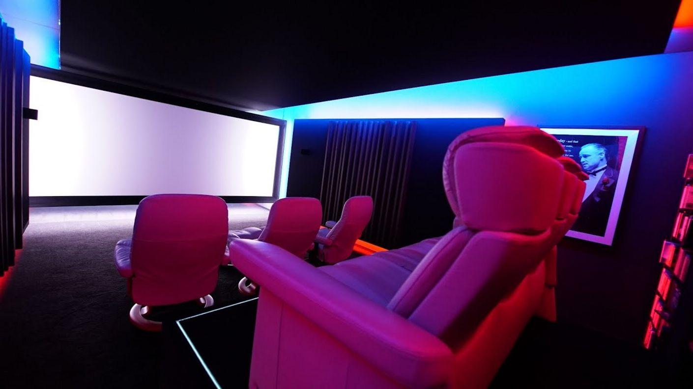 mit Liebe zum Detail: Vorstellung Hollywood-Zuhause Design Kundenheimkino mit Raumakustik, Laser &Co